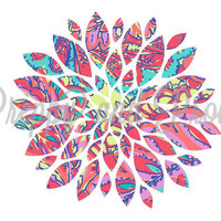 Lilly Pulitzer Inspired Decal Sticker Flower Bloom for Cars, Laptops, Phones, Tablets, Yeti and S'well bottles