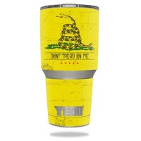 Protective Vinyl Skin Decal for YETI 30 oz Rambler Tumbler wrap cover sticker skins Don't Tread On Me DECAL ONLY