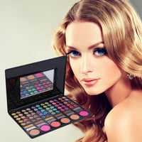 Professional 78 Color Eye Shadow Cheek Blusher Lip Gloss Makeup Palette Hot Sale Makeup Sets