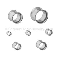 Scream Body Jewelry - 316L Surgical Steel Double Flare Tunnels (1 Pair)