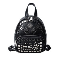Personality trend in summer 2017 rivets backpack  Korean Mini casual fashion