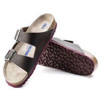 DCCK1 Birkenstock Arizona Soft Footbed Birko Flor Embossed Desert Soil Espresso 1005712 Sandals