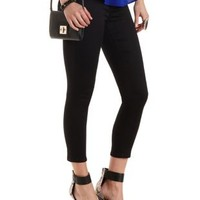 "Refuge ""Hi-Waist Super Skinny"" Cropped Jeans - Black"