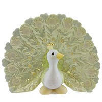 Precious Moments YOU SHOULD BE PROUD AS A PEACOCK Porcelain Bird Feathers 733008