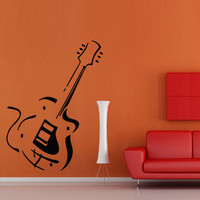 Wall decal art decor decals sticker guitar Electrical tool play sound music note song melody picture room (m865)
