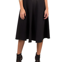 Below Knee Flared Out Skirt