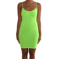 Women's Seamless Camisole Top - Neon Green