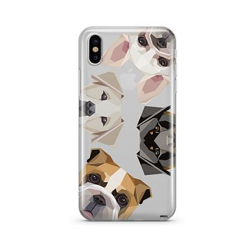 Dogs With Attitudes - Clear TPU - iPhone Case