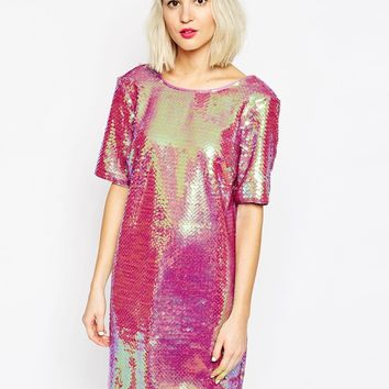 ASOS All Over Sequin T Shirt