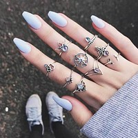 Boho Mermaid Ring Set
