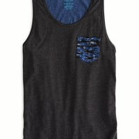 AEO Men's Colorblock Pocket Tank