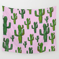 CACTUS DANCE Wall Tapestry by Vasare Nar | Society6