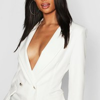 Tall Button Detail Tailored Blazer | Boohoo