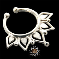 Fake Septum Ring - Faux Septum Ring - Fake Piercing - Clip On Piercing - Clip On Septum - Septum Jewelry - Septum Cuff - Nose Jewelry