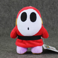 14cm Super Mario Plush Shy Guy anime plush stuffed pendant keychain toy doll