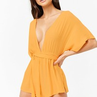Plunging Swim Cover-Up Romper