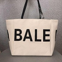 BALENCIAGA WOMEN'S CANVAS HANDBAG TOTE BAG SHOPPING BAG