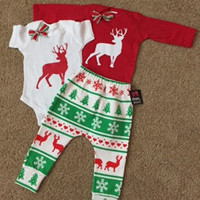 Reindeer Onesuit - Christmas Onesuit - RWL Kids - Ruffles with Love - Baby Clothing - RWL