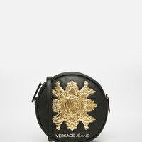Versace Jeans Round Across Body Bag with Gold Branding