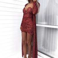 Robyn Red Two Piece set