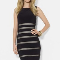 Lauren Ralph Lauren Mesh Stripe Jersey Dress (Petite)