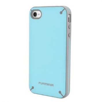 PureGear 02-001-01611 Slim Shell for iPhone 4/4S - 1 Pack - Carrying Case - Retail Packaging - Blueberry Cream