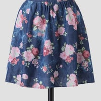 In The Park Floral Skirt