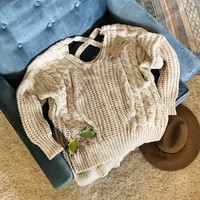 Sweet Strap Back Sweater