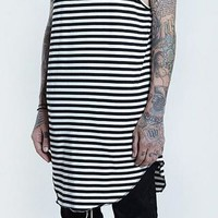 The Black and White Striped Tank