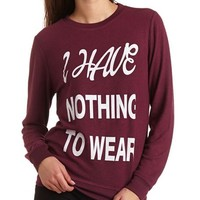 FUZZY FLEECE GRAPHIC TUNIC SWEATSHIRT
