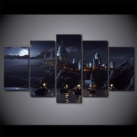 Harry Potter School Castle 5-Piece Wall Art Canvas