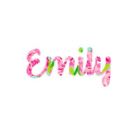Lilly Pulitzer Name Monogram Decal, Inspired Decal Monogram, Lilly Pulitzer Decal, Lilly car decal, Lilly Pulitzer Yeti decal Custom Decal