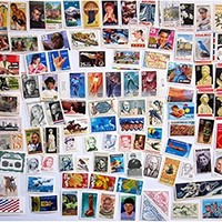 100 Postage Stamps Vintage Unused All Different