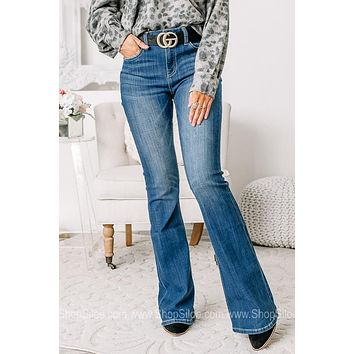 Standing Tall Mid Rise Flare Jeans