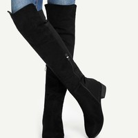 Knee Length Plain Boots