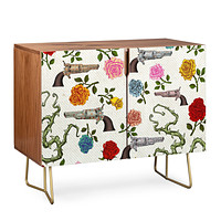 Belle13 Sweet Guns And Roses Credenza