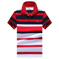 Lacoste  Men Fashion Casual Letter Shirt Top Tee