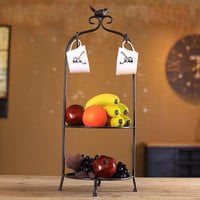 Iron Decoration Cup Fruits Palace Rack [6283670854]
