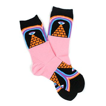 Magic Eye Pyramid Socks