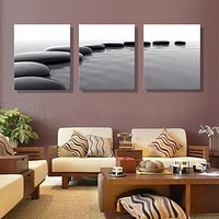 3 Panels Canvas Art Pebbles Stone HD Prints Wall Pictures For Living Room Still Canvas Painting Home Decor (no frame)