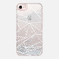 Casetify iPhone 7 Glitter Case - Ab Lines White Transparent by Project M #iPhone7
