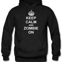 Keep Calm And zombie On hoodie