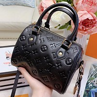 LV New fashion monogram leather pillow shape shoulder bag crossbody bag handbag Black