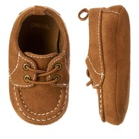 Faux Suede Crib Moccasin