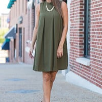 Everyone Stares Dress,Olive
