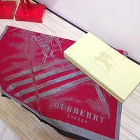 BURBERRY Autumn Winter Trending Woman Men Stylish Warmer Cashmere Scarf Scarves Shawl Accessories Red