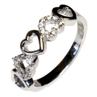 Beautiful Promise Rings - Promise Rings For Her | Silver | Heart | Infinity | Princess Cut and more - The Promise Ring Store
