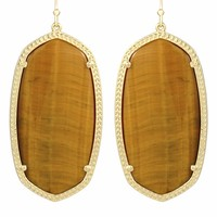 Danielle Earrings in Tiger's Eye - Kendra Scott Jewelry