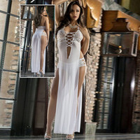 Cute On Sale Hot Deal Stylish Ladies Spaghetti Strap Prom Dress Sexy Backless Sleeveless V-neck Exotic Lingerie [6595854723]