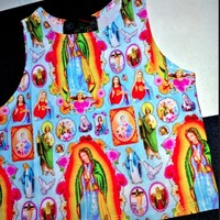 SWEET LORD O'MIGHTY! Lady Of Guadalupe Crop Tank